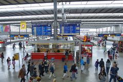 Station de train à Munich, Allemagne Images stock