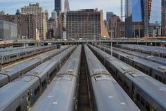 Station de train à New York Images libres de droits