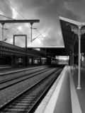 Station de train Image stock