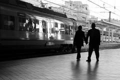 Station de train Photo stock