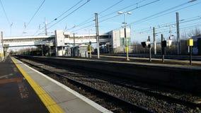 Station de train Photographie stock