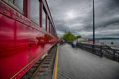 Station de train Images libres de droits
