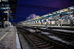 Station de train Images stock