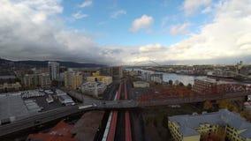 Station de train aérienne de Portland banque de vidéos