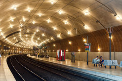 Station de train au Monaco Photo stock