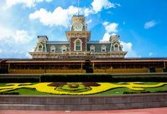 Station de train au royaume magique Images libres de droits