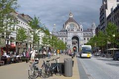 Station de train centrale d'Anvers, Belgique Photographie stock libre de droits