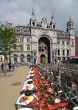 Station de train centrale d'Anvers, Belgique Images libres de droits