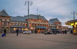 Station de train centrale de ville de Gothenburg image stock