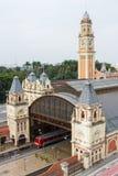 Station de train classique dans San Paolo, Brésil Photos stock