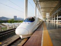 Station de train d'ÉMEU de Wenzhou Images libres de droits