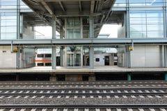 Station de train d'aéroport Photo libre de droits