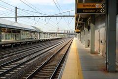 Station de train d'aéroport Images libres de droits