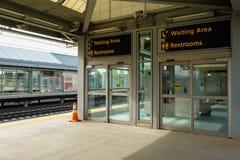 Station de train d'aéroport Photographie stock