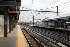 Station de train d'aéroport Photo stock