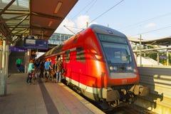 Station de train d'aéroport de Dusseldorf Photographie stock