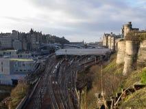 Station de train d'Edimbourg Waverly Image stock