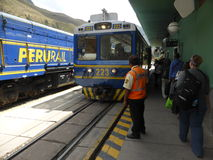 Station de train d'Ollantaytambo Photo stock