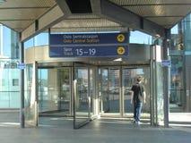 Station de train d'Oslo, Norvège Images libres de droits