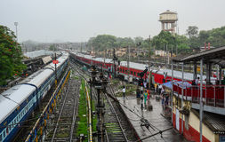 Station de train dans Gaya, Inde Photos stock
