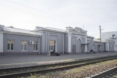 Station de train dans le Krasny Kut image stock