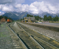 Station de train de Banff Image stock