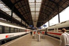 Station de train de Bâle Photographie stock libre de droits