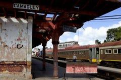 Station de train de Camagsuey Images libres de droits