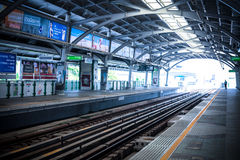 Station de train de ciel de Bangkok le 24 avril 2017   Architecture publique de transport en Thaïlande Images stock