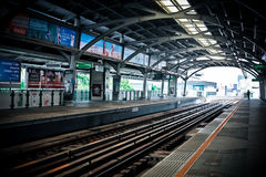 Station de train de ciel de Bangkok le 24 avril 2017   Architecture publique de transport en Thaïlande Photo libre de droits