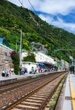 Station de train de Corniglia, Cinque Terre Photographie stock