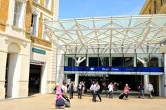 Station de train de Cross du Roi à Londres Images libres de droits