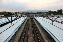 Station de train de Deodoro près du parc 2016 olympique de Rio Deodoro Image libre de droits