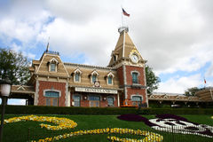 Station de train de Disneyland Photo stock