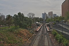 Station de train de Jolimont à Melbourne HDR Image stock