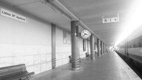 Station de train de Lisbonne Photo stock