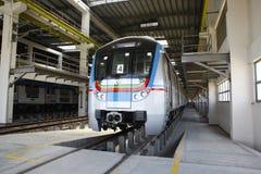 Station de train de métro Photo stock