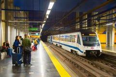 Station de train de métro de Madrid, Espagne Photographie stock libre de droits