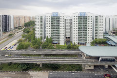 Station de train de rail de lumière de Singapour Image libre de droits