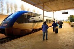 Station de train de Roscoff la Bretagne dans des Frances du nord-ouest Image stock