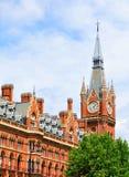 Station de train de Saint-Pancras à Londres Photos stock