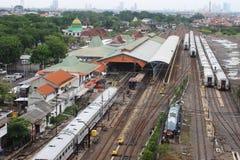 Station de train de Semut Sorabaya Image libre de droits