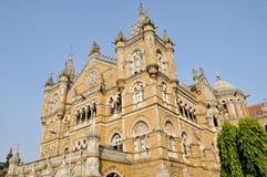 Station de train de terminus de Victoria, Mumbai (Inde) photographie stock