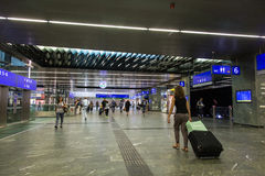 Station de train de Vienne Hauptbanhof Photographie stock