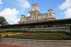 Station de train des Etats-Unis de rue principale - royaume magique Images libres de droits