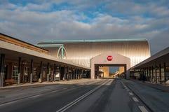 Station de train de Hoje Taastrup pendant l'hiver Photo libre de droits