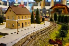 Station de train miniature Image stock