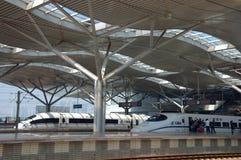 Station de train moderne à Tchang-cha, Chine Image libre de droits