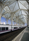 Station de train moderne Photographie stock libre de droits