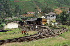 Station de train Nanu Oya Photo stock